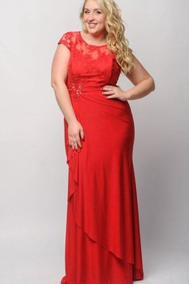 Sheath Jewel Appliques Short Sleeves Floor Length Prom Dress