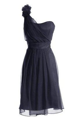 Sleeveless Natural Waist Pleated Ruched Flowers Bridesmaid Dress