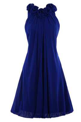 Exclusive Fancy Chiffon Demure Knee Length Bridesmaid Dress