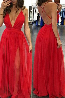 Natural Waist Chiffon A-Line Floor Length Prom Dress