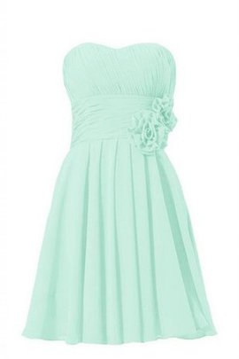 Short Chiffon Strapless Sashes Pleated Bridesmaid Dress