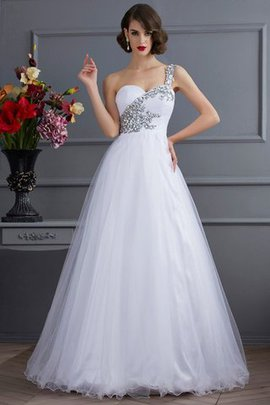 Floor Length Ball Gown Empire Waist Lace-up Elastic Woven Satin Quinceanera Dress