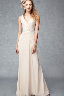 Informal & Casual Chic & Modern Elegant & Luxurious A-Line V-Neck Bridesmaid Dress