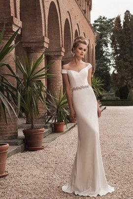 Rectangle Crystal Plus Size Court Train Natural Waist Wedding Dress