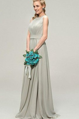 A-Line Empire Waist Pleated Capped Sleeves Chiffon Bridesmaid Dress