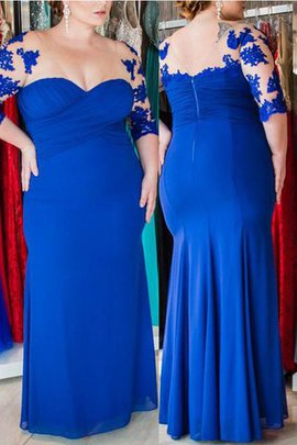 Floor Length Appliques Chiffon Sleeveless Plus Size Prom Dress