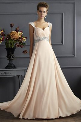 Sleeveless Wide Straps Princess Floor Length Evening Dress