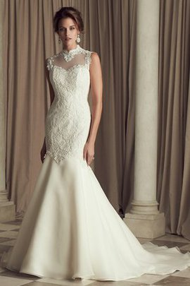 Elegant & Luxurious Chic & Modern Lace Zipper Up Church Wedding Dress
