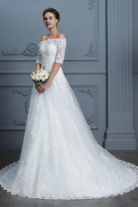 Demure Dazzling Zipper Up Court Train Church Floor Length Romantic Wedding Dress