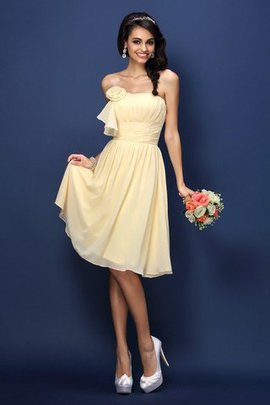 Flowers Sleeveless Chiffon Princess Pleated Bridesmaid Dress