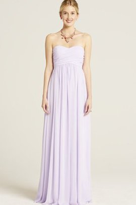Sweetheart Pleated Long Ruched Bridesmaid Dress