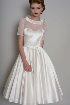 Elegant & Luxurious Satin Pleated Button Wedding Dress