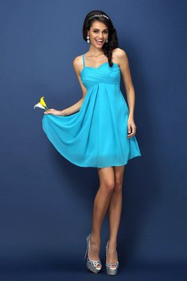 Draped Zipper Up Princess Chiffon Sleeveless Bridesmaid Dress