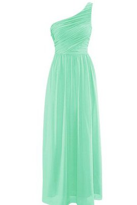 Pleated Elegant & Luxurious Floor Length Chiffon Ruched Bridesmaid Dress