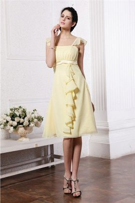 Sleeveless Wide Straps Chiffon Zipper Up Bridesmaid Dress