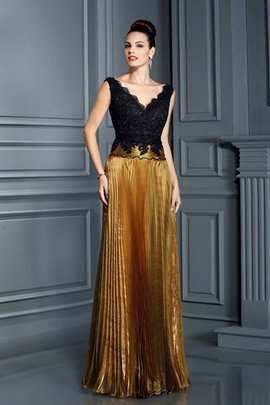 Empire Waist V-Neck Sheath Organza Evening Dress