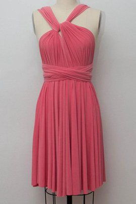 Formal A-Line Ruched Informal & Casual Short Bridesmaid Dress