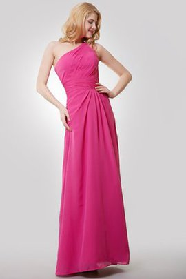 Floor Length One Shoulder Chiffon Sexy A-Line Bridesmaid Dress