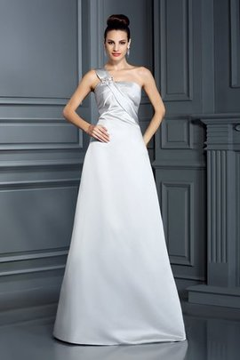 Zipper Up Long A-Line Empire Waist Floor Length Prom Dress