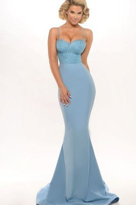 Simple Spaghetti Straps Long Floor Length Sweep Train Evening Dress