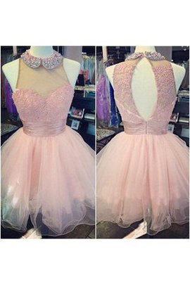 Sweetheart Lace Fabric Pleated Ruched Short Homecoming Dress