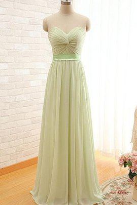 Chiffon A-Line Sleeveless Keyhole Back Bridesmaid Dress