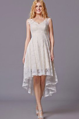 Pleated V-Neck Natural Waist Sleeveless Lace Bridesmaid Dress