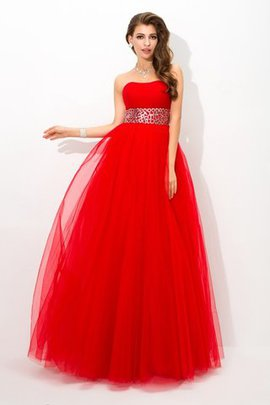 Floor Length Long Beading Strapless Ball Gown Quinceanera Dress
