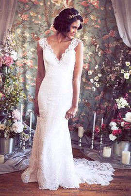 Sexy Chic & Modern Vintage Mermaid Sweep Train Wedding Dress