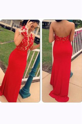 Halter Natural Waist Sleeveless Zipper Up Sweep Train Prom Dress