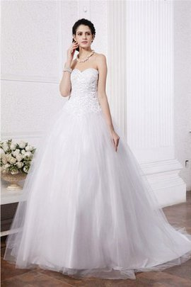 Sweetheart Empire Waist Ball Gown Long Zipper Up Wedding Dress