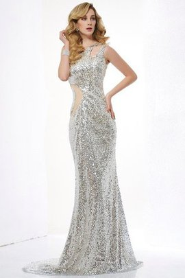 One Shoulder Mermaid Natural Waist Sleeveless Sweep Train Prom Dress