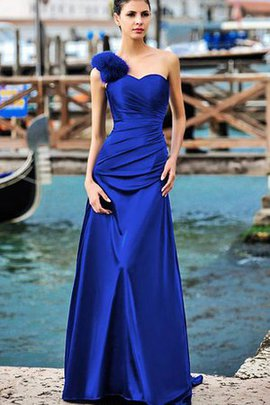 Natural Waist Ruched Long A-Line Sweetheart Bridesmaid Dress