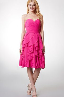 Zipper Up Simple Pleated Sweetheart A-Line Bridesmaid Dress