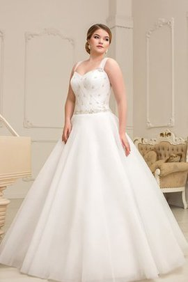 Beading Appliques A-Line Floor Length Long Wedding Dress