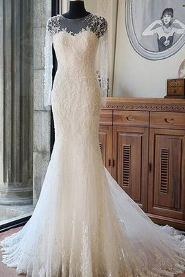 Elegant & Luxurious Court Train Sequined Floor Length Beach Wedding Dress