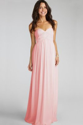 Ruched Sweetheart Chiffon Chic & Modern Bridesmaid Dress