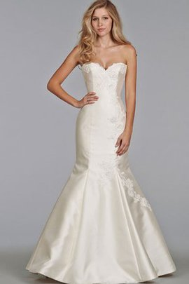 Mermaid Appliques Sweetheart Backless Natural Waist Wedding Dress