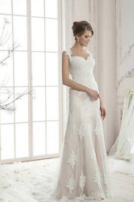 Sheath Sexy Spaghetti Straps Floor Length Lace Fabric Wedding Dress
