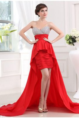 Sleeveless Natural Waist Princess High Low Prom Dress