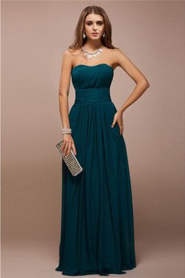 Sheath Ruffles Long Floor Length Sweetheart Bridesmaid Dress