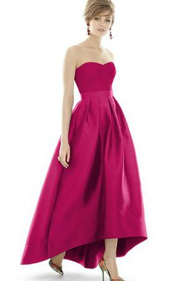 Sweetheart Elegant & Luxurious High Low Zipper Up A-Line Bridesmaid Dress