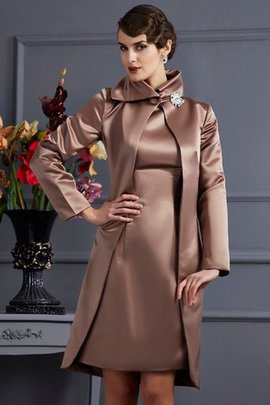 Natural Waist High Neck Sheath Knee Length Mother Of The Bride Dress