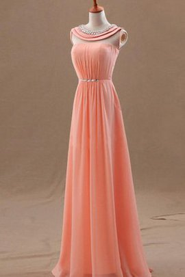 Beading A-Line Floor Length Empire Waist Evening Dress