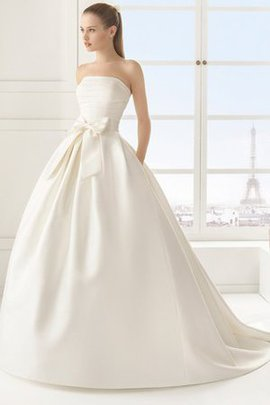 Sashes Natural Waist Inverted Triangle Floor Length Formal Wedding Dress