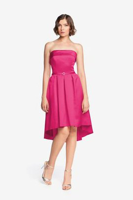 Chic & Modern High Low A-Line Strapless Bridesmaid Dress