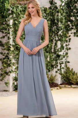 Zipper Up Pleated A-Line Ruffles Vintage Bridesmaid Dress