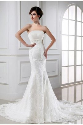 Sleeveless Mermaid Tulle Beading Zipper Up Wedding Dress