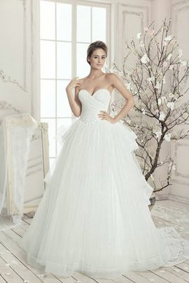 Tulle Sleeveless Ruffles Floor Length Natural Waist Wedding Dress