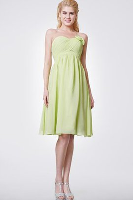 Chiffon Ruched Strapless Informal & Casual Bridesmaid Dress